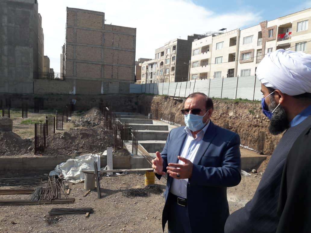 بازدید از پروژه مسجد رسول اکرم (ص) بعثت شهر هشتگرد