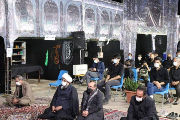 حضور علی حدادی در هیئتهای عزاداری حضرت اباعبدالله الحسین (ع) در نقاط مختلف شهر هشتگرد
